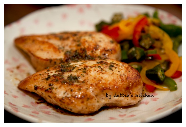 Chicken Breasts Sauteed in Butter 香煎雞胸肉伴牛油汁