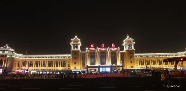 北京站夜景