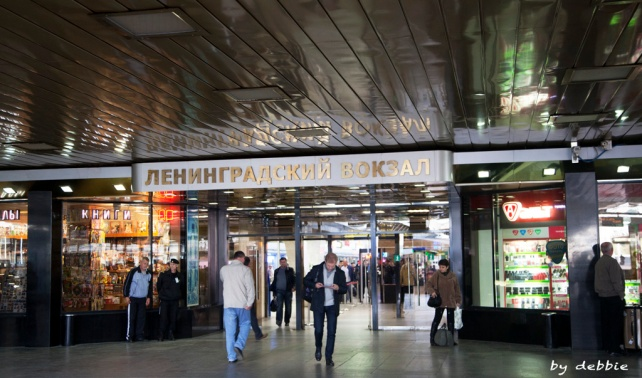 Leningradsky Station-莫斯科開往聖比得堡的Sapsan train在這裡開出
