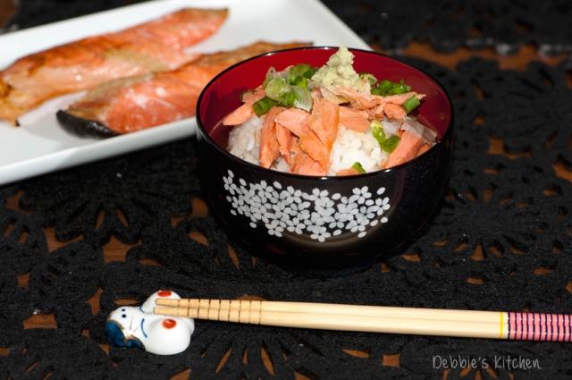 鮭のお茶漬け 三文魚茶漬飯