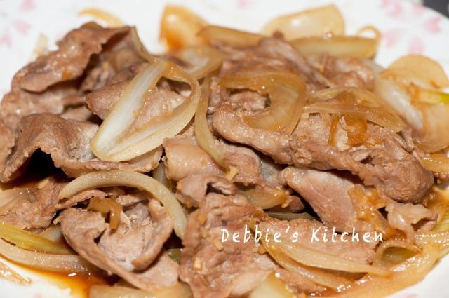 和風洋蔥炒豬肉