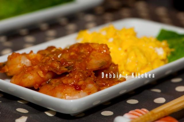 乾燒蝦仁  海老のチリソース煮