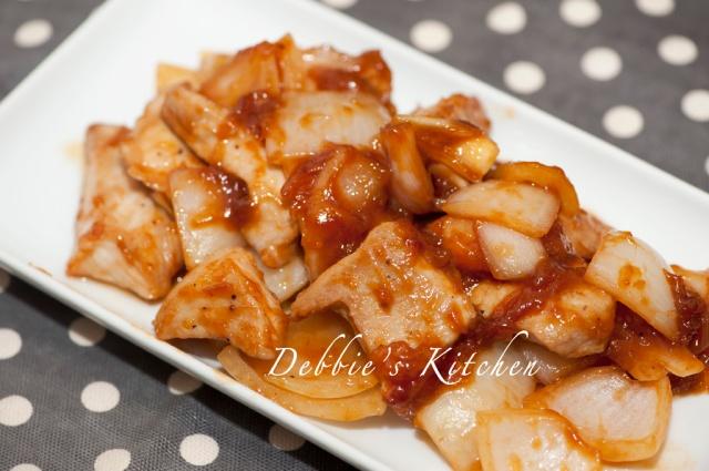 BBQ  Sauce炒豬肉  豚肉バービキュソース炒め