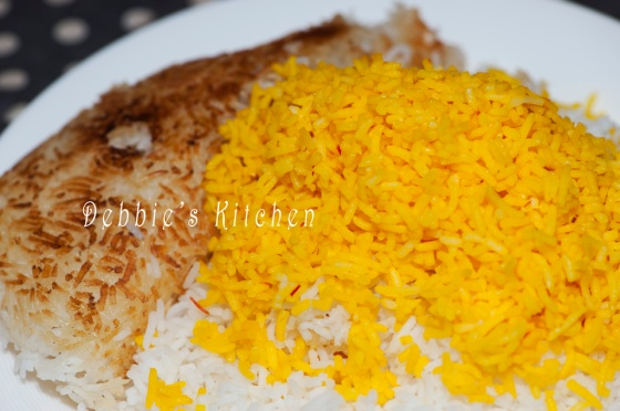 Persian Basmati Rice with Saffron  伊朗番紅花飯