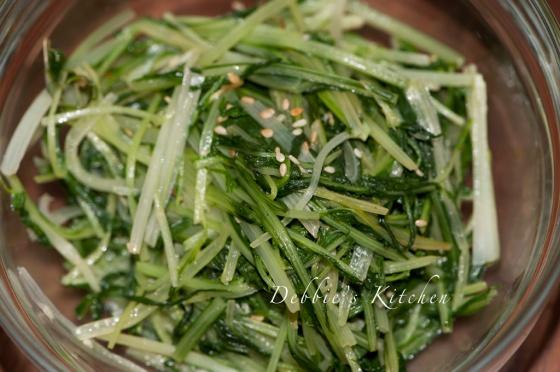 清炒水菜  水菜のしゃきっと炒め
