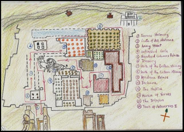 Map of Persepolis