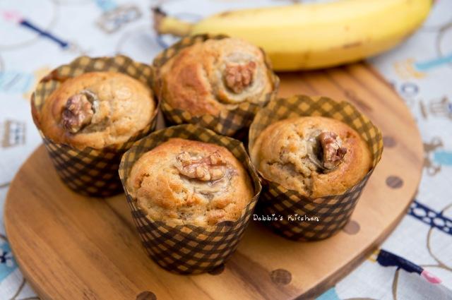 Banana Walnut Muffin  香蕉核桃鬆餅