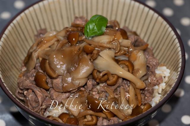 香菇牛肉蓋飯