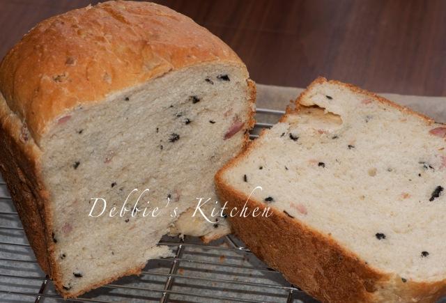 黑橄欖火腿麵包