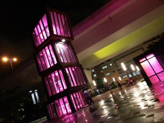 觀塘碼頭 ~ 塔樓的燈光表演