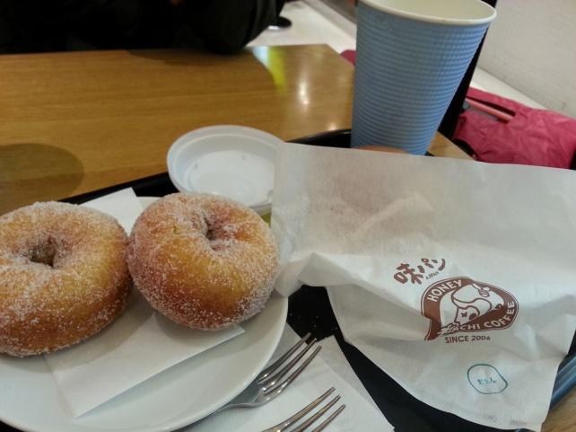 在大阪關西機場吃早餐-我最喜歡的甜甜圈