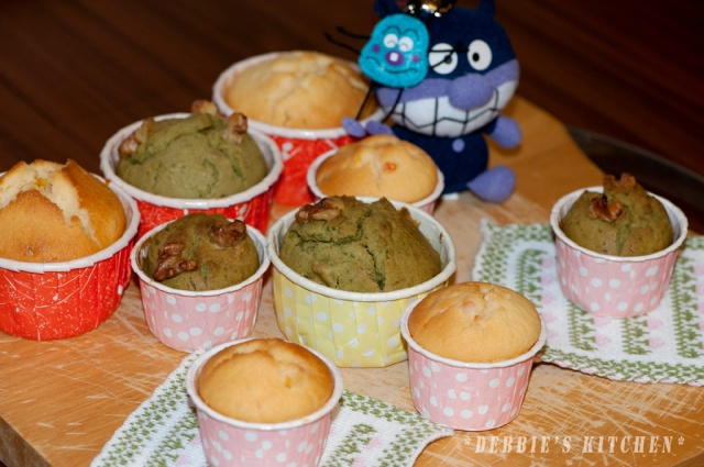 Green Tea Muffin   抹茶鬆餅 , Orange Muffin香橙鬆餅