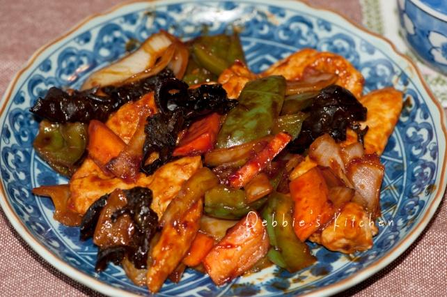 鶏ささみ酢豚風   酢雞