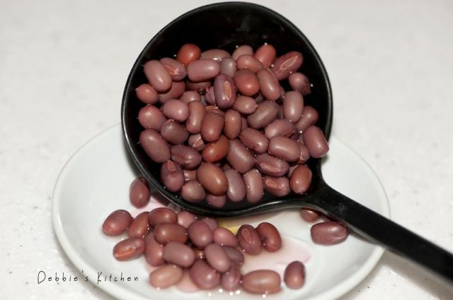 已放置了3個小時的紅豆