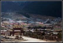 朗木寺前的藏式小村