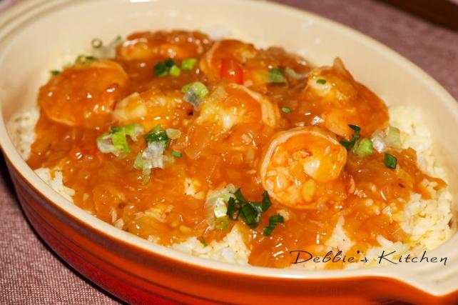 基本蛋炒飯和茄汁蝦仁 茄汁蝦仁  えびのケチャップあんかけ