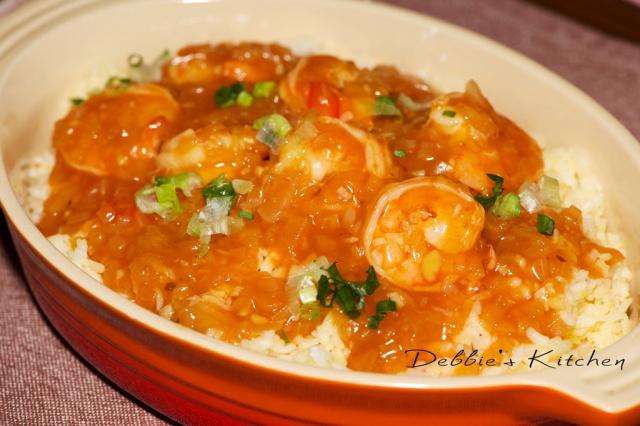 基本蛋炒飯和茄汁蝦仁