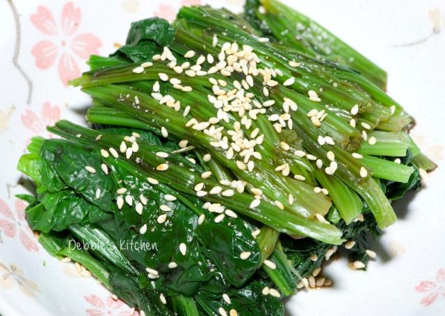 芝麻菠菜 (ほうれん草 ごま和え)