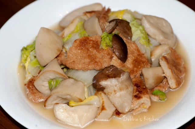杏鮑菇燴高麗菜
