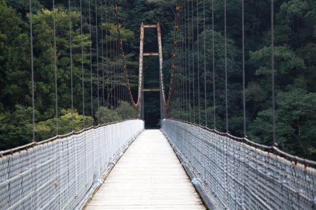 由大步危去小步危途中經過赤川橋,從這吊橋往下望就是吉野川。
