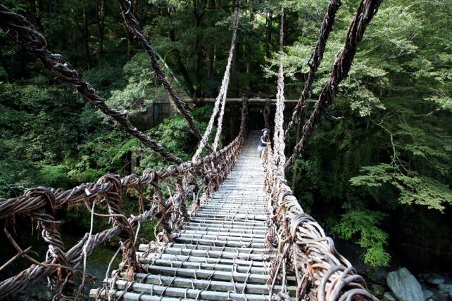 走在上面時橋不停搖晃,很刺激