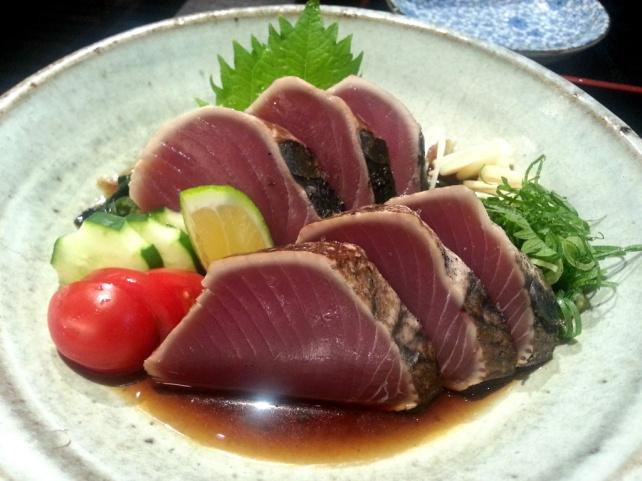 稻草烤鰹魚 (かつおたたき)