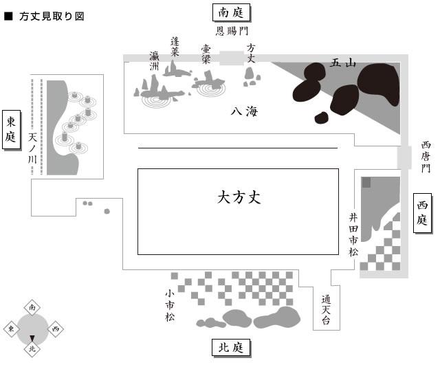 方丈庭園地圖