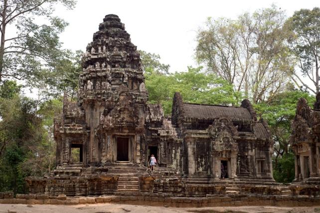 Thommanon的塔有點像吳哥窟的神殿