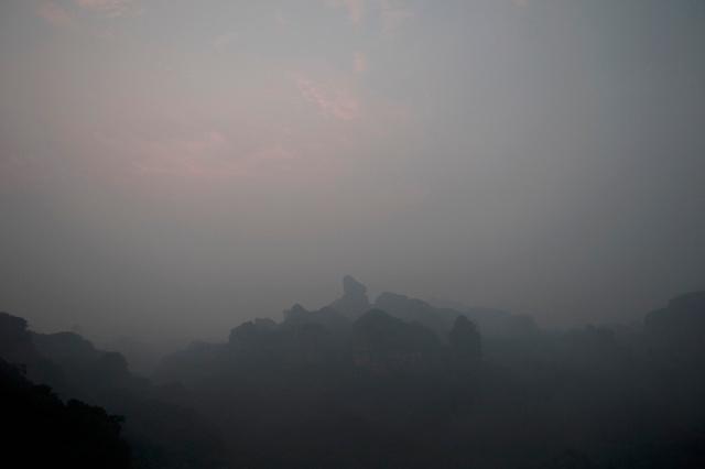 當天大霧,最後也看不到日出