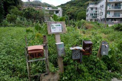 村屋內有很多指示牌往衛奕信徑第四段