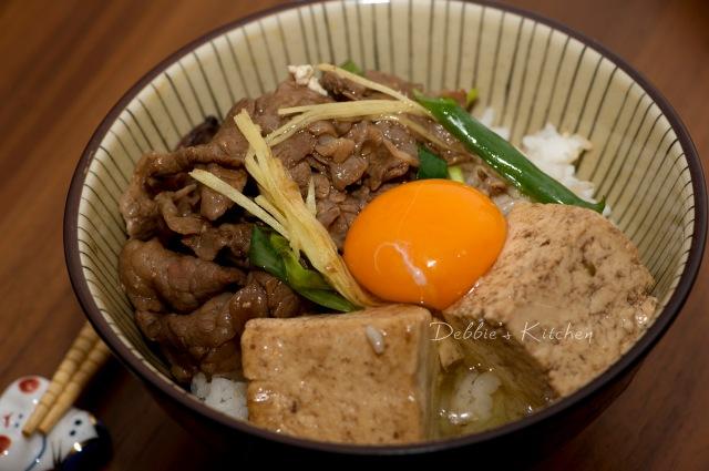牛豆腐丼 牛肉豆腐飯