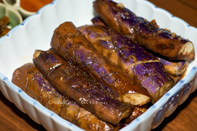 醬油茄子  茄子のにんにく醤油味