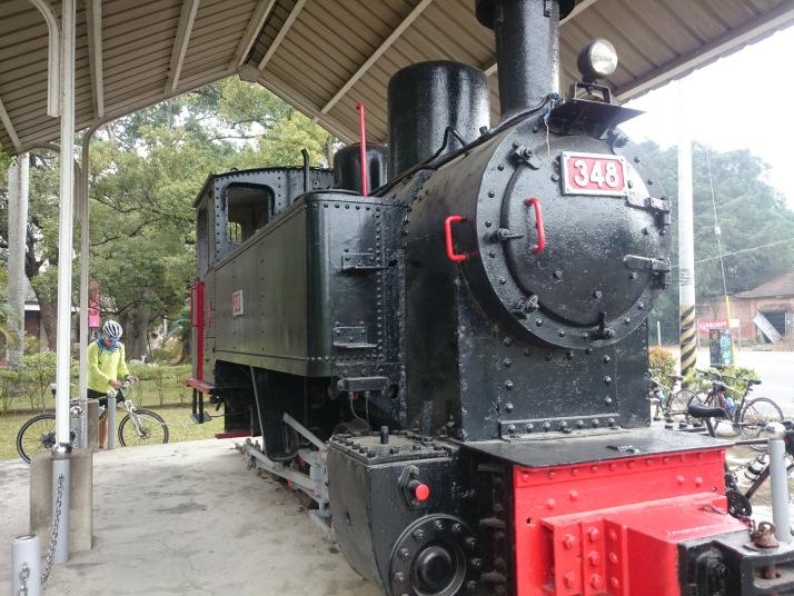 總爺藝文中心 -編號台糖麻三四八號的老蒸氣火車頭