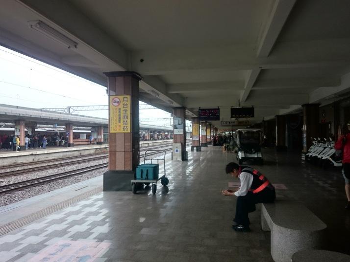 花蓮火車站月台