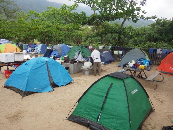 海灘旁營地