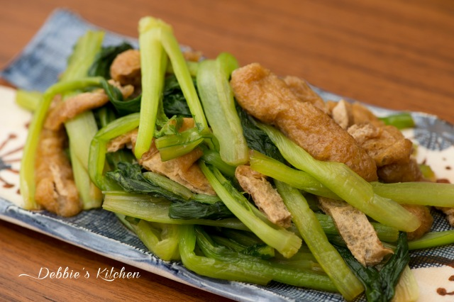 小松菜と油揚げの煮物 小松菜油豆腐煮物