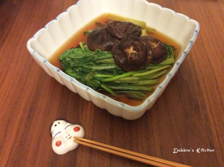 小松菜と椎茸の煮物 小松菜椎茸煮物