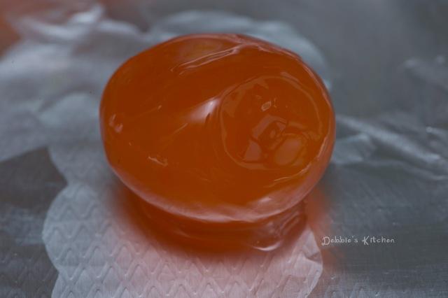 很橙紅的蛋黃