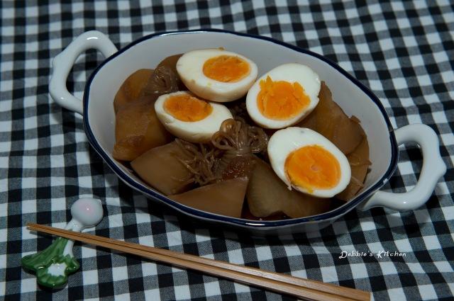 大根雞蛋煮物