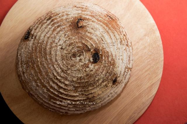 杏仁蔓越莓鄉村麵包
