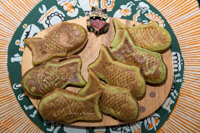 櫻花抹茶紅豆鯛魚燒