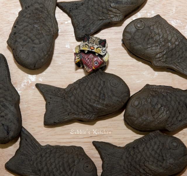 竹炭朱古力鯛魚燒