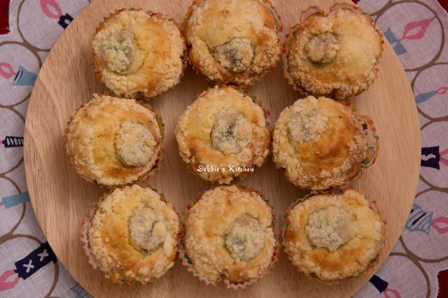 Banana Muffin with Crumble  金寶香蕉鬆餅