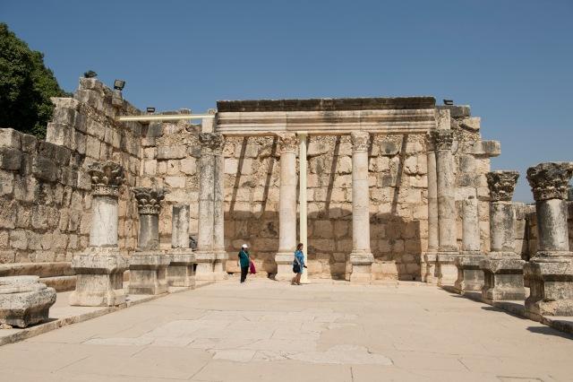 迦百農村莊遺蹟旁的猶太會堂(Synagogue)遺蹟