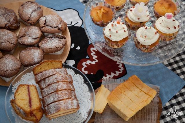 做了4款甜品做tea buffet