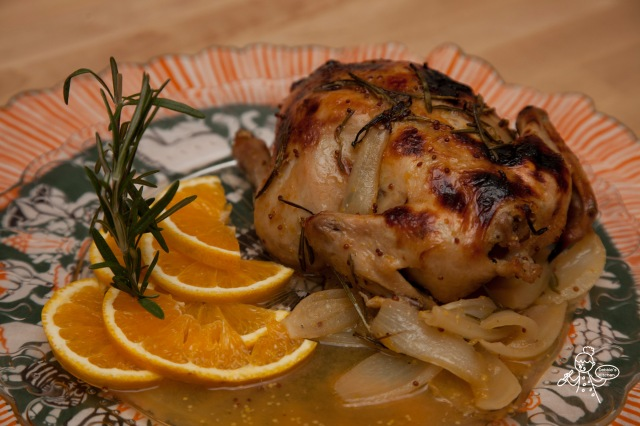 Orange Glazed Roast Chicken 香橙烤雞
