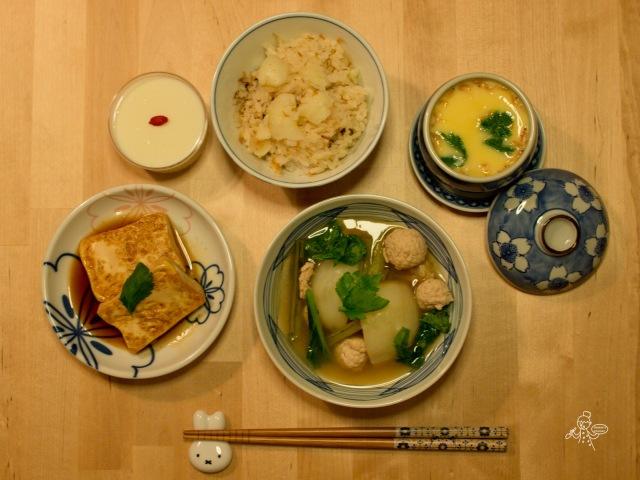 白色的日式料理