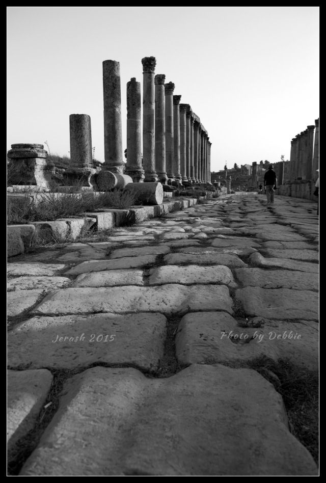 Ancient Stone pavement in Jerash
