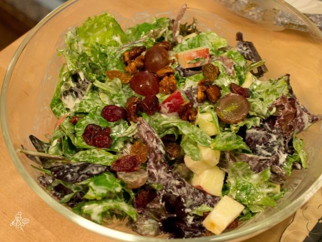 Waldorf Salad with honey glazed walnuts