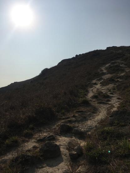 這段落山的路頗難行